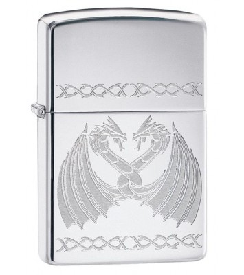 Зажигалка High Polish Chrome Dancing Dragons ZIPPO 29988