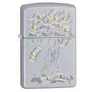 Зажигалка Satin Chrome Money Tree Design ZIPPO 29999