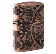 Зажигалка Armor™ Antique Copper™ Nautical Scene Design ZIPPO 49000