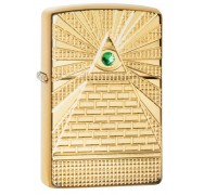 Зажигалка Armor™ High Polish Brass Eye of Providence Design ZIPPO 49060